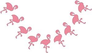 "Bobee Pink Flamingo Party Decorations, 7-Foot Paper Garland, 6"" Flamingos"