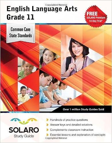 Common Core English Language Arts Grade 11: SOLARO Study Guide (Common Core Study Guides)