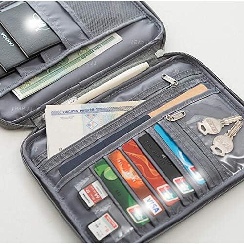 Color : Black, Size : S ZYL Outdoor Travel Passport Ticket Storage Bag Multi-Function Portable Travel Document Jacket