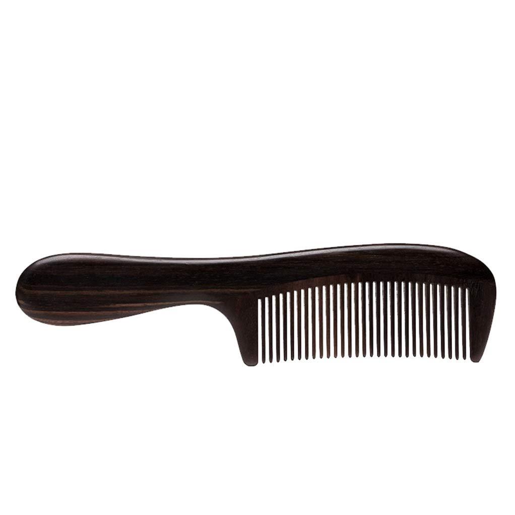 Yilian Shuzi Creative Hand-Made Gift Box Ebony Wood Comb to Send Girls to Send Mother Long Handle Comb