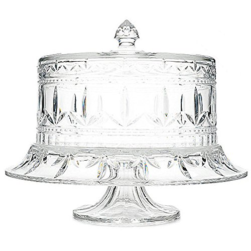 Marquis by Waterford Finley Multi Use Fan & Wedge Cut Crystal Cake - Stores Waterford