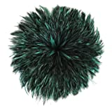Zucker Feather (TM) - Rooster Hackle-Dyed Furnace 1YD - Forest Green