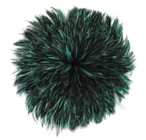 Zucker Feather Products CNFS4-6DG-YD Rooster Hackle - Dyed Furnace (Neck), Forest Green (Yd Forest Green)