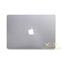 SopiGuard Silver Carbon Fiber Full Body Vinyl Skin Apple Macbook Pro 13 Non Retina