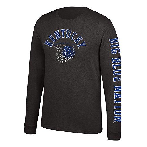 J America NCAA Men's Kentucky Wildcats Sleeve Logo Long Sleeve Tee, X-Large, Black]()