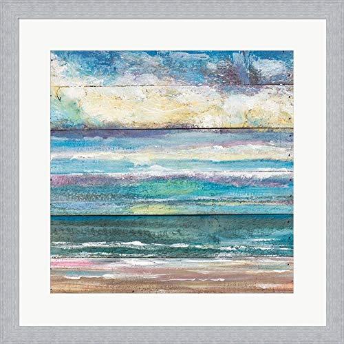 - Ocean View I by Molly Susan Strong Framed Art Print Wall Picture, White Silver Frame, 19 x 19 inches
