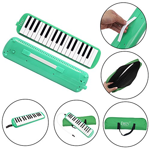 IRIN 32 Keys Melodica Musical Instrument for Music Lovers Gift with Carrying Bag (Green)