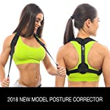 schemberTRU Posture Corrector for Women & Men - Comfortable Adjustable Back Posture Brace - Back Support for Pain Relief - Use Everywhere even at the Office and Home Gym