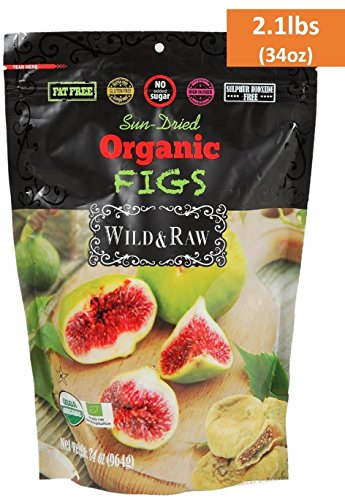 ORGANIC TURKISH FIGS - BULK SIZE - 2.1lbs  - Kosher Non-GMO