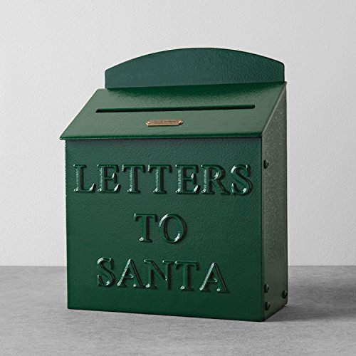 Hearth and Hand with Magnolia Mailbox Letters to Santa Green Christmas Farmhouse (Christmas Mailbox)