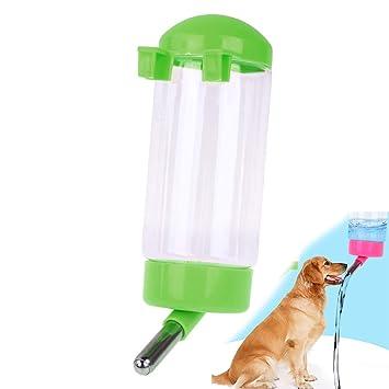 Hilai Botella de Agua para Mascotas 500ML Que cuelga ningún dispensador de Goteo para Animales pequeños de Conejo de Gato Cachorro, Agua de alimentación ...