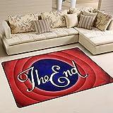 DEYYA Movie Ending Screen Griphic Print Sofa Area Rug Carpet Non-Slip Floor Mat Doormats for Living Room Bedroom 72 x 48 inches
