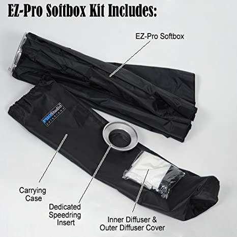Collapsible Strip Softbox with Profoto Speedring for Profoto and Compatible 22x90cm Fotodiox EZ-Pro Strip Softbox 9x36