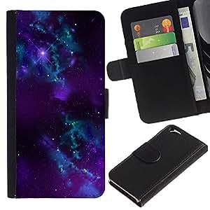 EJOY---La carpeta del tirón la caja de cuero de alta calidad de la PU Caso protector / Apple Iphone 6 / --Espacio Galaxy