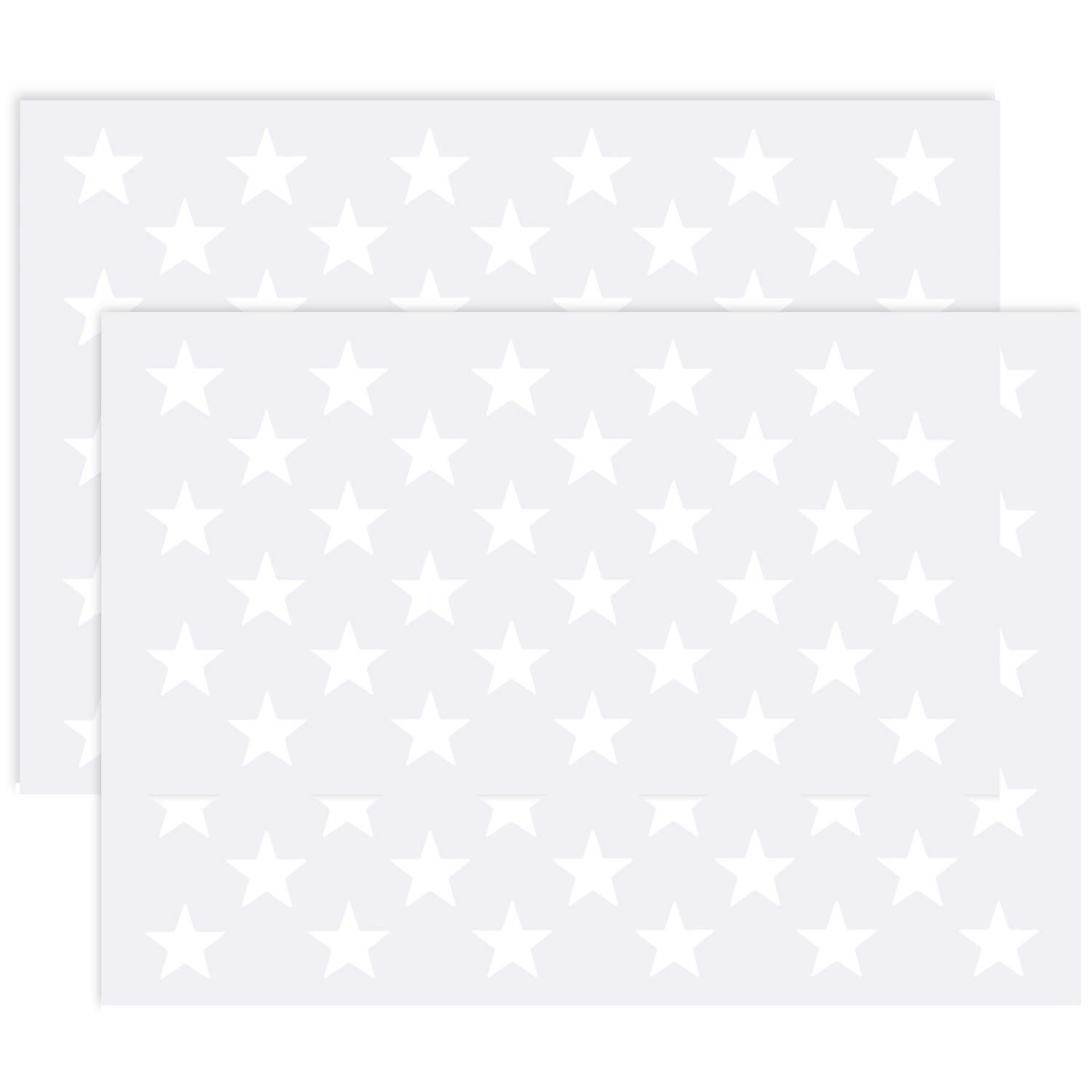 Frienda 2 Pack American Flag 50 Star Field Stencil Template for Painting Crafts Reusable on Wood, Paper, Fabric, Glass, and Wall Art 4336890638