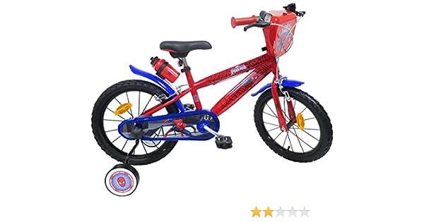 EDEN-BIKES Bicicleta de 16 Pulgadas, Garcon Licence Spiderman-2 ...