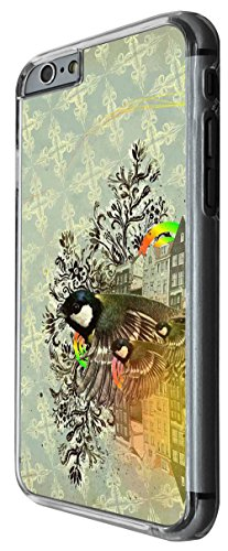 1212 - Retro Vintage Shabby Chic Birds Family Design For iphone 6 Plus / iphone 6 Plus S 5.5'' Fashion Trend CASE Back COVER Plastic&Thin Metal -Clear