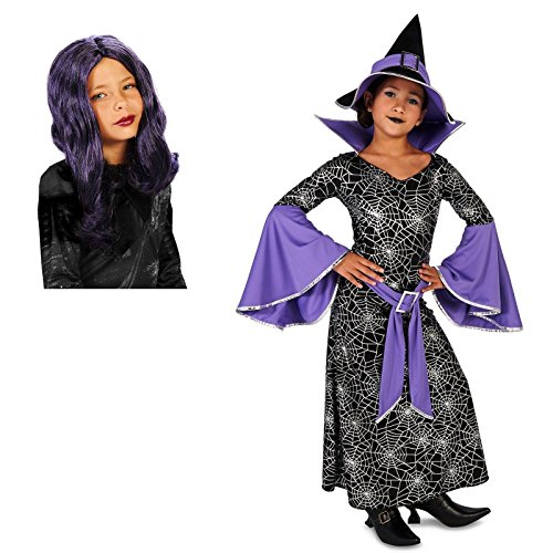 Enchanting Witch Child Costume X-Large (16-18) with Wig Bundle Set (Wicked Witch Of The West Broom)