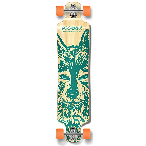 Yocaher Spirit Wolf Longboard Complete Skateboard Cruiser - Available in All Shapes (Lowrider)