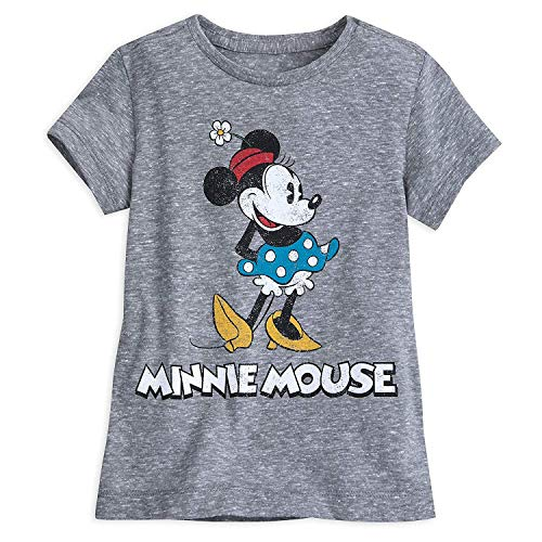 Disney Minnie Mouse Classic T-Shirt Girls - Gray Size XL (14) - Disney Clothes Kids For