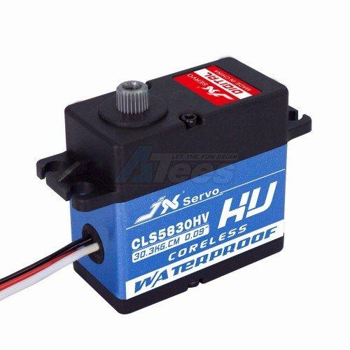 JX Servo #JX/CLS5830HV CLS5830HV Waterproof Aluminum Case HV Coreless Digital Servo 30 Kg/0.09 Sec @8.4V for Crawler & Buggy by JX Servo