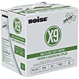 Boise X-9 Multi-Use Copy Paper, SPLOX (Easy Carry Box), 8.5 x 11, 92 Bright, 20 lb, Reamless (2,500 Sheets)
