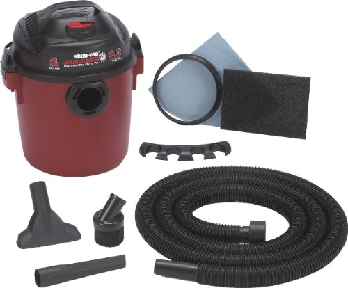 Shop-Vac 58503 Bulldog 2 HP Wet/Dry Vacuum - 4 Gallon Capacity (Vac Handheld Vacuum Shop)