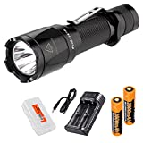 Rechargeable Bundle: Fenix TK16 1000 Lumen Tactical LED Flashlight, ARE-X2 Two-Channel Smart Charger, Rechargeable Batteries and LumenTac Battery Organizer