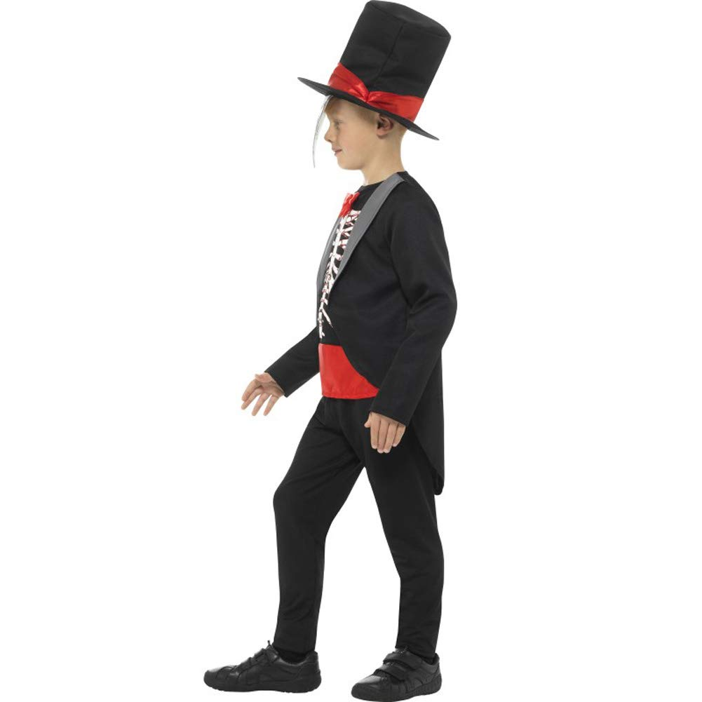 Smiffys Day of The Dead Boy Costume, Black, Medium
