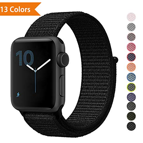 YOUKEX ❤️Sport Band Replacement for Apple Watch Bands Series 1,2,3,4, 38mm 42mm, Soft Nylon Sport Loop Wrist Band Compatible with iWatch Apple Watch(Works with 40mm, 44mm)