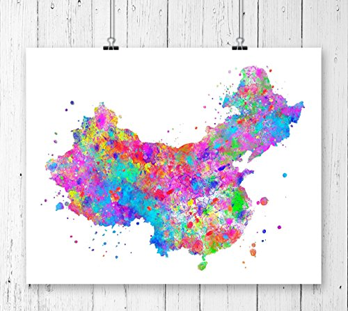 China Map Art Print, Poster, Wall Art, Contemporary Art, Modern Wall Decor, Office Decor ( UNFRAMED)