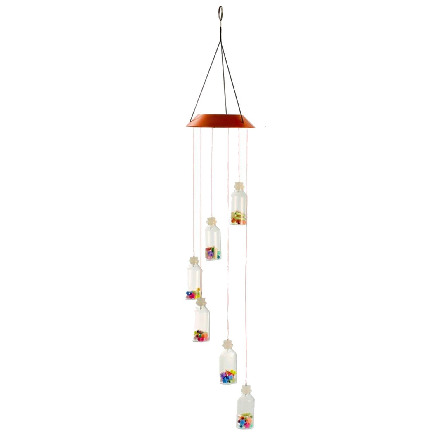 Gosear Solar LED Light Hanging Wind Chime Changing Color for Lawn Yard Garden Home Decoration Butterfly Style