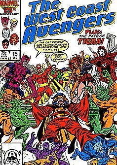 The West Coast Avengers #15 : The Lady or the Tigra (Marvel Comics)