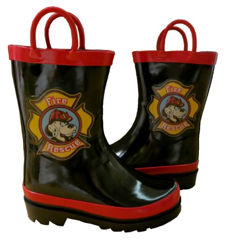 Fireman Rain Coats and Boots with Umbrellas