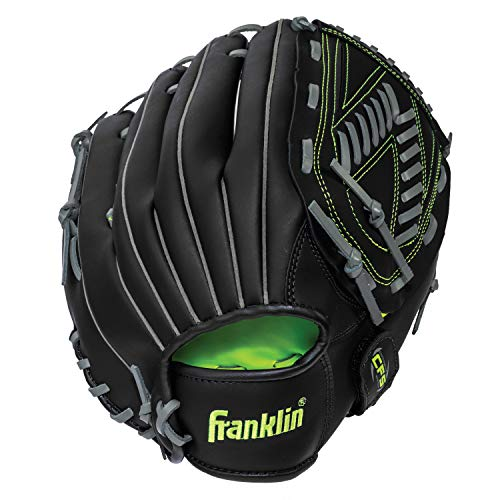 "Franklin Sports Baseball and Softball Glove - Field Master Midnight - Baseball and Softball Mitt - Adult and Youth Glove - Right Hand Throw - 13"", Black"