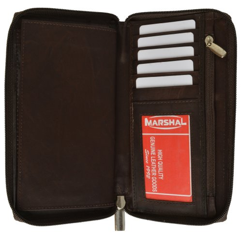Genuine Leather Checkbook Cover Zippered ()