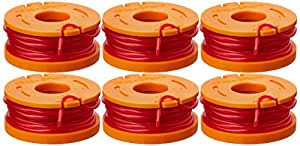 WORX WA0010 Replacement 10-Foot Grass Trimmer/Edger Spool Line, 6-Pack - See Product Description for Compatible Models