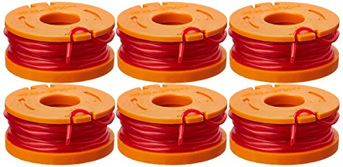 WORX WA0010 Replacement 10-Foot Grass Trimmer/Edger Spool Line, 6-Pack - See Product Description for Compatible - Trimmer Grass Cut