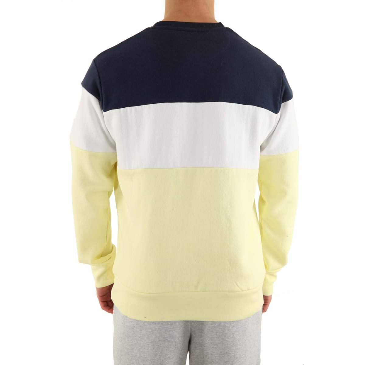 ellesse Crew Neck Tricol Embroidery Sweat Hommes
