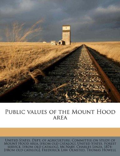 Public values of the Mount Hood area PDF