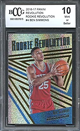 515a58272 2016-17 panini revolution rookie revolution  4 BEN SIMMONS rookie BGS BCCG  10 Graded