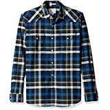 Lucky Brand Men's Santa Fe Western Shirt in Multi, Blue/Green/Natural, Large