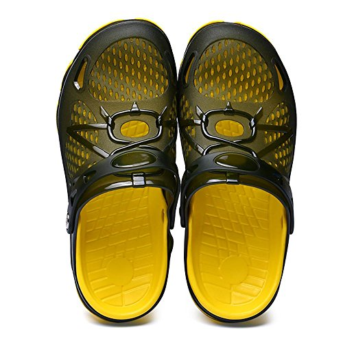 SITAILE Mens Womens Breathable Slide Sandals Athletic Lightweight Water Clog Shoes Darkgreen