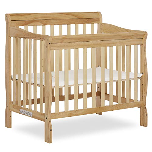 (Dream On Me 4 in 1 Aden Convertible Mini Crib, Natural)