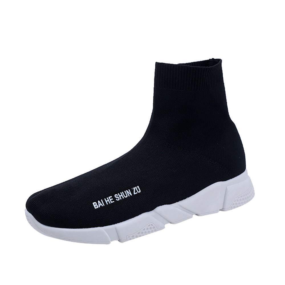 ZEZKT Chaussures de Sport Femme, Baskets Hautes Mixte Adulte Chaussures de Course Mode Sneakers Chaussures à Randonnée Chaussures de Running Compétition Chaussures de Fitness Chaussettes Chaussures
