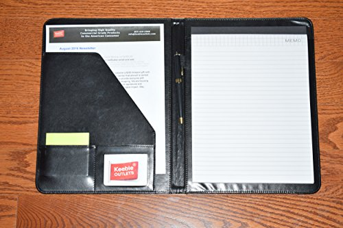 Leather Portfolio Folder, 2 Professional Leather Padfolio Folders, Great for Your Office, for College Students or for Carrying Your Resume to Job Interviews by Keeble Outlets (Image #3)