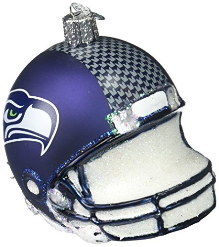 - Old World Christmas Glass Blown Ornament Seattle Seahawks Helmet
