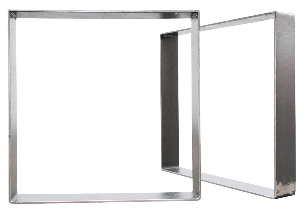 Signstek 16'' Square Modern Frame Legs, Set of 2, Vintage Metal, 16'' Height X 16'' Length X 3.9'' Width, for Coffee Tables, Modern Desks, Night Stands, Or Chairs, etc.