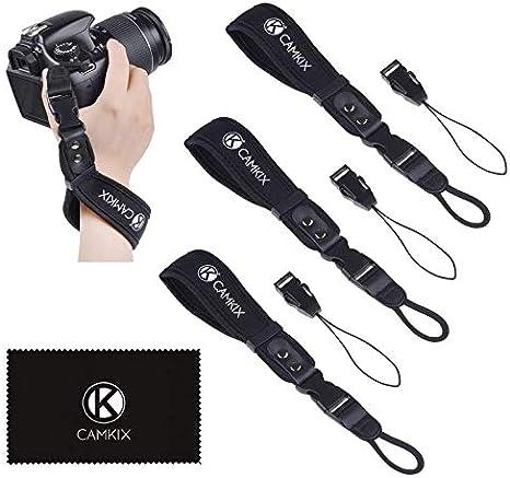 E-outstanding Camera Strap 2 Packs Adjustable Camera Tether Safety Strap Quick Release Clip for DSLR or SLR Camera