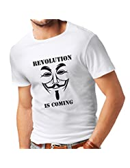 N4249 T-shirt male Revolution Is Coming - Anonymous